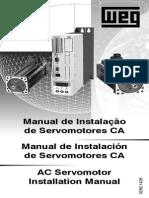 WEG Manual de Instalacao de Servomotores CA 10017695 Manual Portugues Br