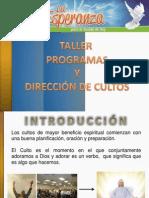 Programas y Dirección de Culto