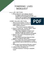 Empowering Lives Webquest