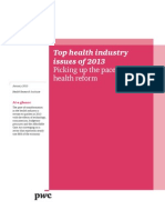 Pwc Hri Top Health Industry Issues 2013