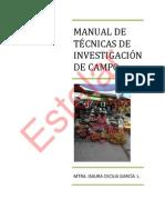 Manual de Tecnicas de Investigacion de Campo Clase 2