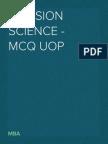 Decision Science - MCQ UOP