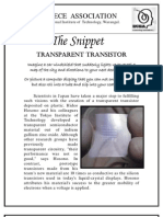 The Snippet-3-Transparent Transisitor