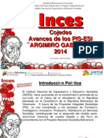 Avances Pis-esi 2014 Arsenia