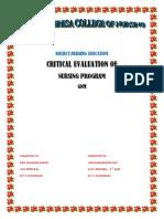 Critical Evaluation of Nursing Programme (2)