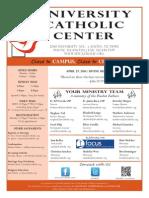 UCC Sunday Bulletin 4-27-2014