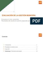 GfK Pulso Peru Noviembre Evaluacion de Municipio