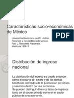Características Socio Económicas
