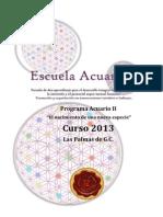 Dossier Escuela Acuario II 2012-2013. LP