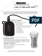 Micro Bru Instructions Kickass American Wheat