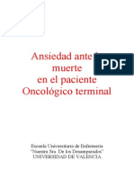 Ansiedad Ante La Muerte en El Enfermo Oncologico Terminal