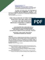 Los Desafios Del Discurso de La Estrategia en Las Organizaciones y La Estretagia Competitiva de Michael Porter