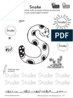 Snake Colouring Sheet