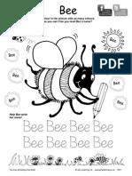 Jolly Phonics Bee Colouring Sheet