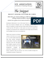 The Snippet-4-Night Vision in Cars