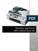 Impresoras Brother Mfc440cn Error46