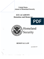 ICE 287(g) Participant Workbook - Removal Charges