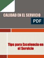 Tips Calidad en El Servicio