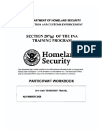 ICE 287(g) Participant Workbook - 9-11 and Terrorist Travel