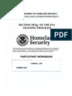 ICE 287(g) Participant Workbook - Criminal Law