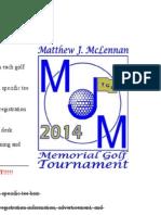 Sponsorship Info Sheet MJM Golf Tourney