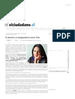 El Ciudadano » El Derecho a La Desigualdad en Salud_ Chile