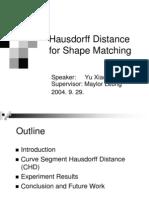 [2004] - Hausdorff Distance for Shape Matching