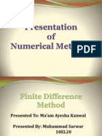 Finite Difference Method 10EL20.ppt