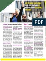 HDP 2014 Yerel Seçimleri için hazırlanan Şehir Gazetesi 1. Sayısı