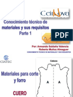 Materiales Para Corte y Forro Ceinnova 2011