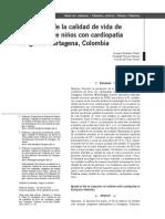 Percepción de La Calidad de Vida de Cuidadores de Niños Con Cardiopatía Congénita Cartagena, Colombia