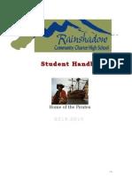 rcchs student handbook 13-14
