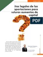 Aportaciones Para Futuros Aumentos de Capital Requisitos Legales de