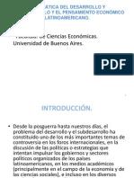 2.-La Tematica Del Desarrollo y Subdesarrollo.