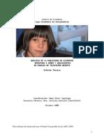 Estudio de la Liga Ciudadana de consumidores de la publicidad de alimentos orientada a niños y adolecentes en la telvisión abierta chilena