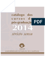 CATALOGO STRICTO SENSU UNICAMP 2014