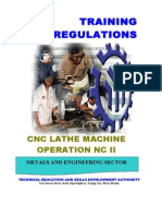 CNC Lathe Machine Operation NC II