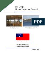 Peace Corps Samoa Final Audit Report IG0906A
