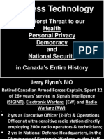 Dangers of Electromagnetic Frequencies to health, privacy, democracy and national security