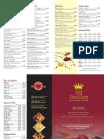 raj pavilion menu