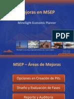 Mejoras en MSEP MineSight Economic Planner