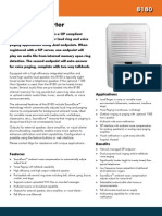 8180 SIP Audio Alerter Product Sheet