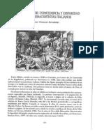Coincidencia Y Disparidad Con Dos Renacentistas Italiano
