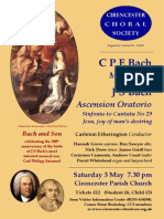 """Bach and Son"" - Cirencester Choral Society - Saturday 3rd May 2014, 7:30pm"