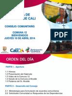 Presentación Concejo Comunitario COMUNA12 Abril 12_C12