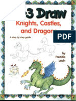 1-2-3 Draw Kinights, Castles & Dragons a Step by Step Guide