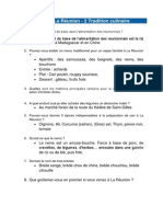 Corrigé Du Quiz Sur La Réunion-2 Tradition Culinaire