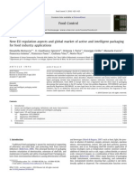 New EU Regulation Aspects and Global Market of Active and Intelligent Packaging for Food Industry Applications