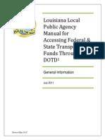 LPA_Final_Manual_05-2012 - DOTD - Local Public Agency Manual
