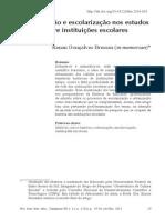 Urbanização e Escolarização Nos Estudos Sobre Instituições Escolares